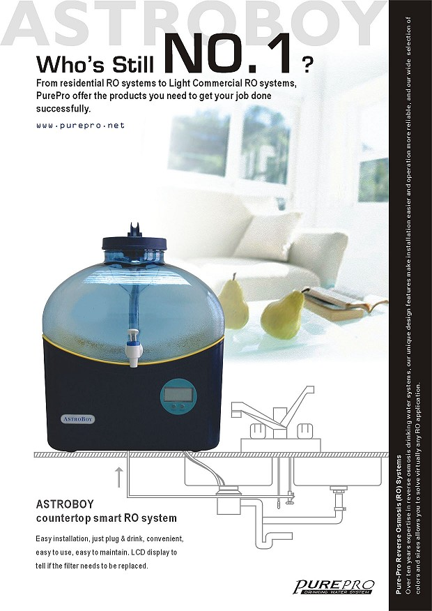 Purepro 174 Astroboy Reverse Osmosis Water System Astroboy