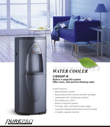 Purepro 174 Reverse Osmosis Water Cooler Cw929p B