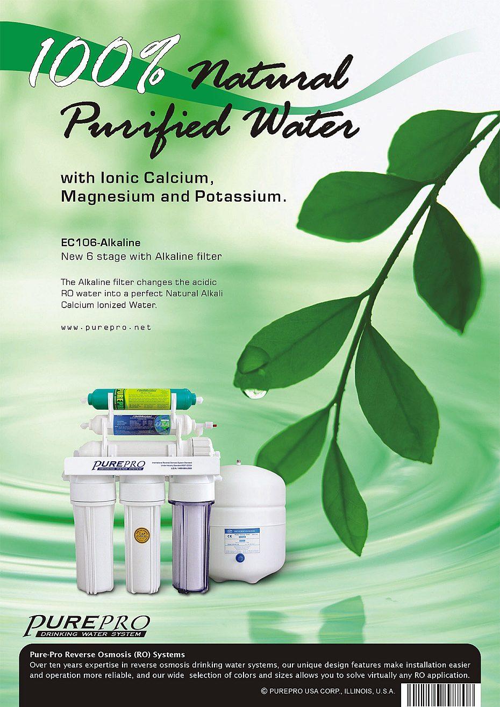 Purepro 174 Usa Reverse Osmosis Ro Water Filters Alkaline