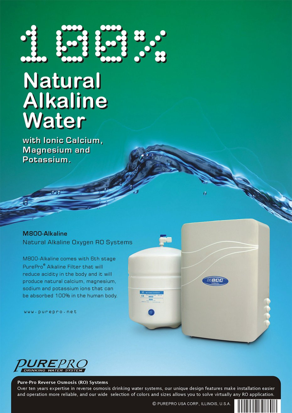 Purepro Reverse Osmosis Water Filter Systems Us Manufacturer Process Flow Diagram Plant Images M800 Alkaline1 Dm L