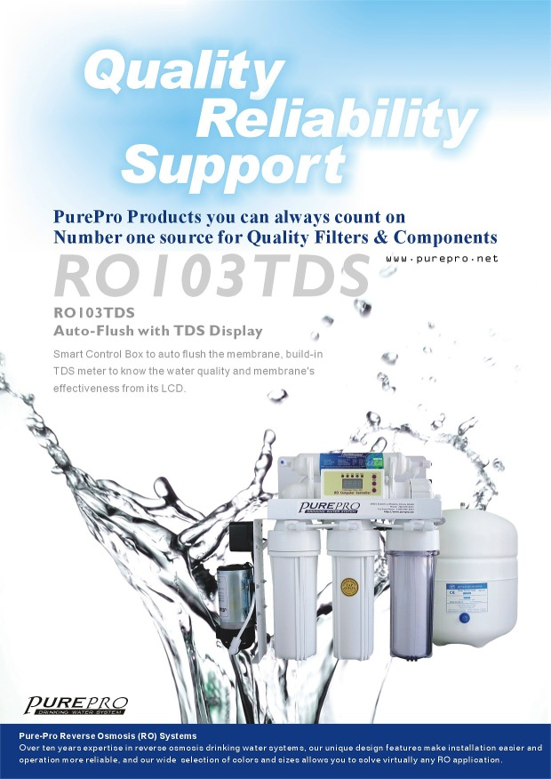 Purepro 174 Ro103tds Reverse Osmosis Water Filter Systems