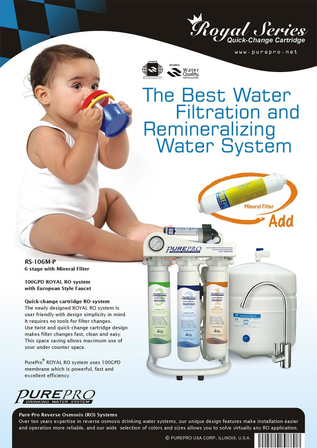 purepro rs 106m p reverse osmosis water filter systems. Black Bedroom Furniture Sets. Home Design Ideas