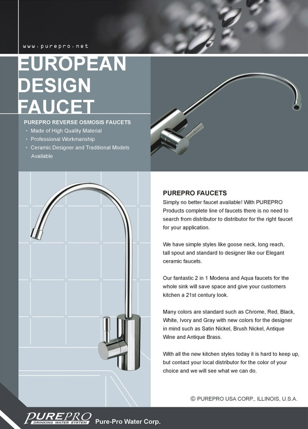 PurePro® European Design Faucet - Best Quaity!