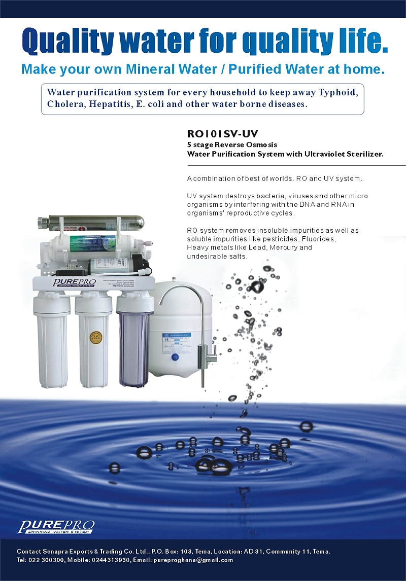 Purepro 174 Ro101sv Uv Reverse Osmosis Water Filter Systems