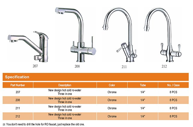 Purepro 174 Three In One Faucets